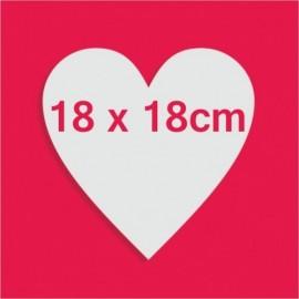Support bonbons polystyrène coeur pour gateau bonbon 18 x 18cm
