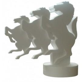 Totem chevaux en polystyrène