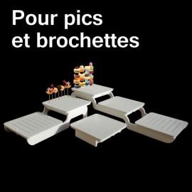 présentoir modulo pour pics et brochettes