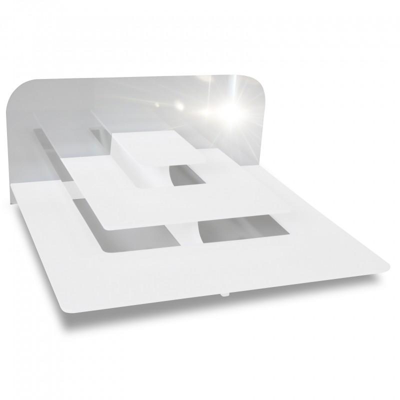 Pr sentoir mise en bouche 3 marches rectangle fond miroir for Fond miroir