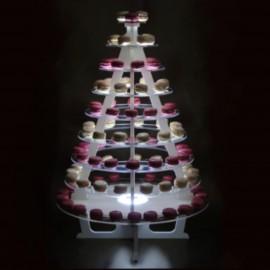 présentoir buffet lumineux cone pour verrines