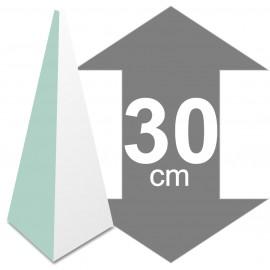 La pyramide en polystyrène hauteur 30cm base 13,4 x 13,4cm