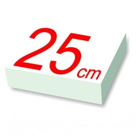 carré polystyrène 25 cm de côté