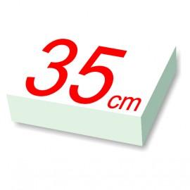 carré polystyrène 35 cm de côté