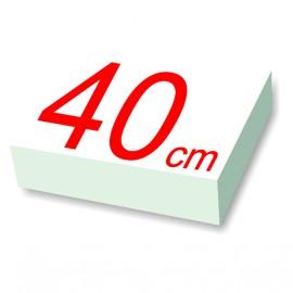 carré polystyrène 40 cm de côté