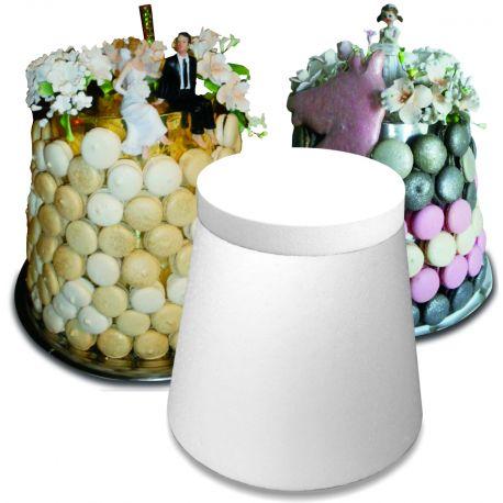 cône podium polystyrène hauteur 28 cm