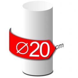 Colonne lisse en polystyrène hauteur 50cm diamètre 20cm