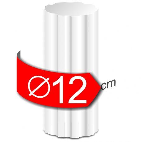 Colonne cannelees en polystyrène hauteur 50cm diamètre 12cm