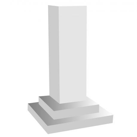 Colonne carree en polystyrène sur pied hauteur 55cm