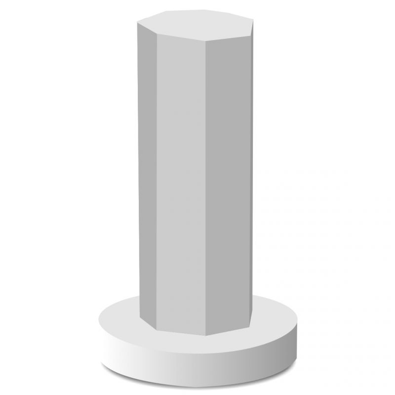 Colonne polystyr ne 7 facettes pour brochettes ou navettes for Colonne en platre pour decoration interieure
