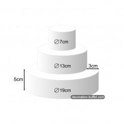 gâteau américain pour bonbons h 15 cm - base 19 cm