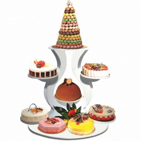 Présentoir gâteaux circulaire pvc