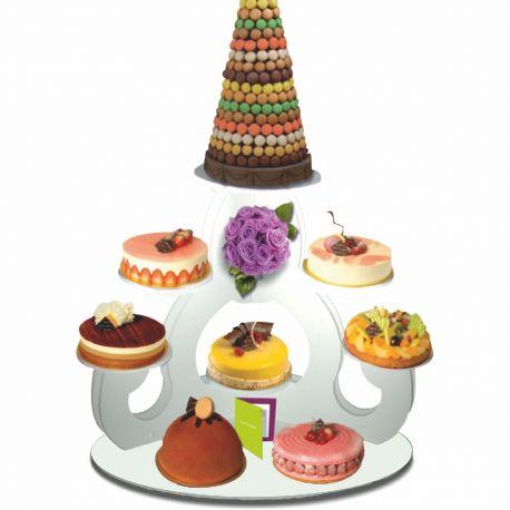 présentoir gâteaux caligula en pvc