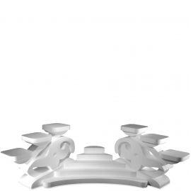 ensemble de présentoirs gâteaux polystyrène fleur de lys