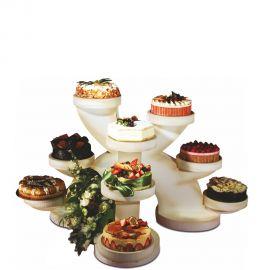 Présentoir gâteaux trio en polystyrène