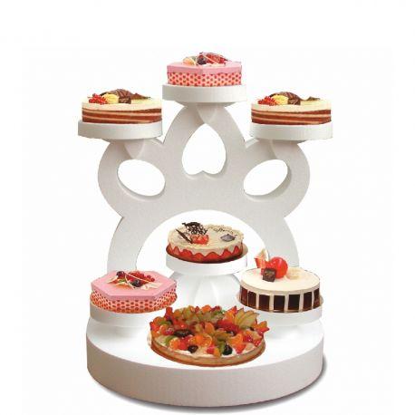 Présentoir gâteaux imperial en polystyrène