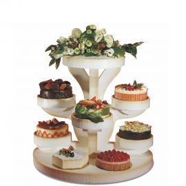 présentoir gâteaux polystyrène circulaire
