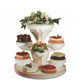 Présentoir gâteaux circulaire en polystyrène