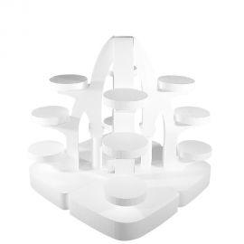 ensemble de 4 présentoirs gateaux polystyrène archi