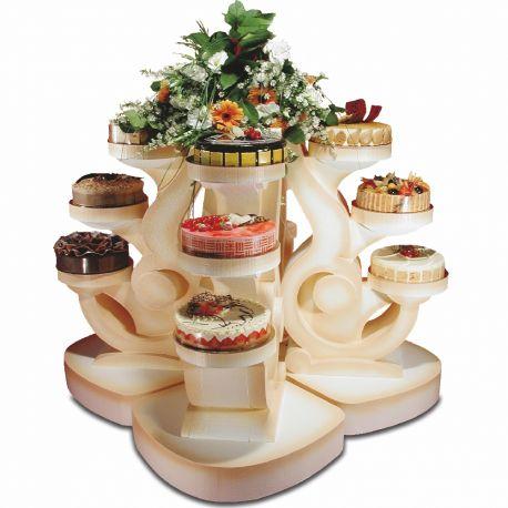 Ensemble de 4 présentoirs à gâteaux quatuor en polystyrène