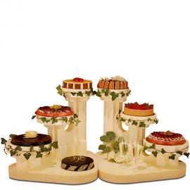 ensemble de 2 présentoirs gâteau polystyrène régence