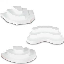 ensemble de 3 présentoirs décoration buffet 3 marches en polystyrène