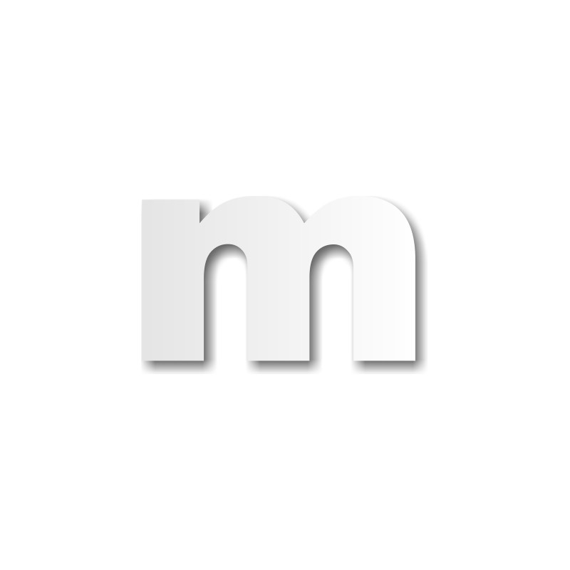 Lettre M Minuscule D 233 Coration Buffet