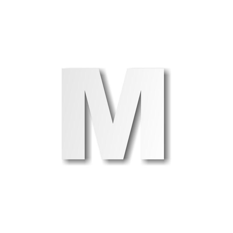 Lettre m majuscule d coration buffet - Experte en composants 15 lettres ...