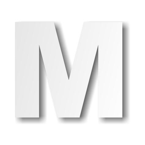 lettre m majuscule dcoration buffet - Lettre Majuscule A Imprimer