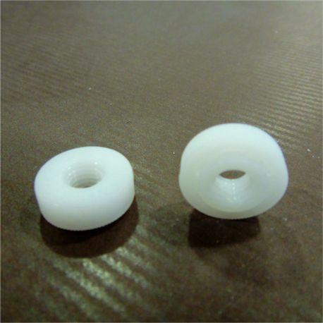 crous molet s plastique blanc trou 6 mm lot de 20 d coration buffet black bedroom furniture. Black Bedroom Furniture Sets. Home Design Ideas