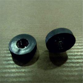 écrous moletés plastique noir trou 6 mm lot de 20
