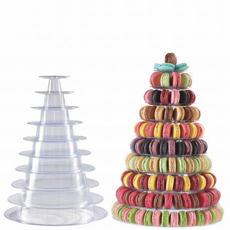 présentoir cône à macarons à poser