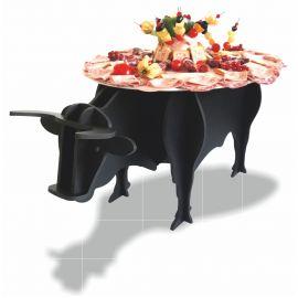 présentoir taureau en pvc noir mat
