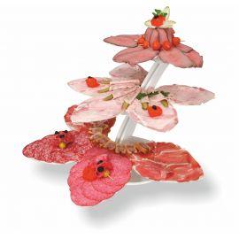 présentoir buffet 3 fleurs en pvc