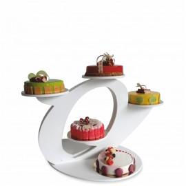 Presentoir gateau mariage piece mont e socle - Presentoir a cupcake pas cher ...