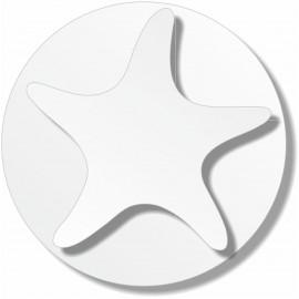 support polystyrène silhouette étoile de mer sur socle