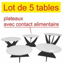ENSEMBLE DE 5 PETITES TABLES POUR BUFFETS
