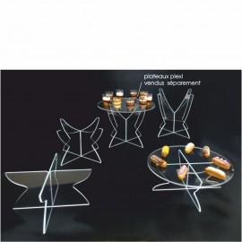 jeu de pieds étagés en plexi incolore transparent