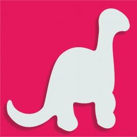 Support polystyrène Dinosaure 18x18cm ep 3cm