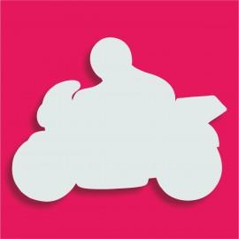 Présentoir gateau de bonbons en polystyrène moto et motard