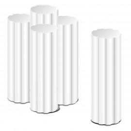 - colonnes crénelées