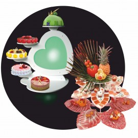 Pin plateau cake stands provide an attractive base and enough height for cake - Decoration pour buffet ...