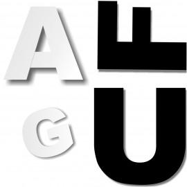 - Lettres majuscules polystyrène ou pvc hauteur 15 à 50 cm