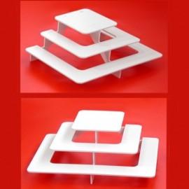 ensemble de 2 présentoirs buffet escaliers carrés pour verrines