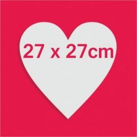 Support bonbons polystyrène coeur pour gateau bonbon 27 x 27cm