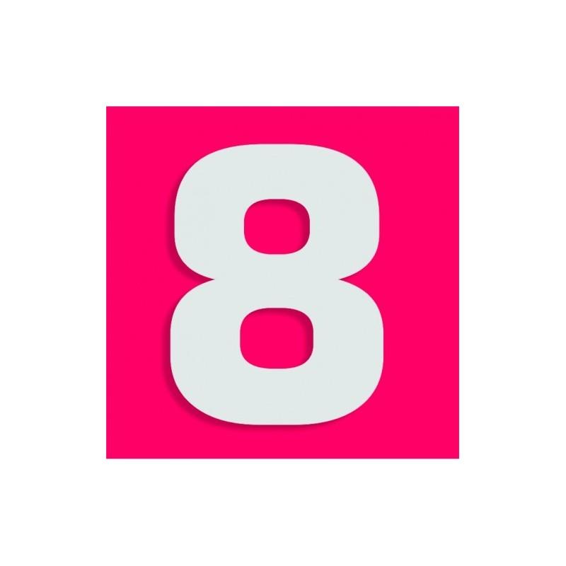 Chiffre 8 En Polystyr 232 Ne Pour Gateau Bonbon H 18 X 15cm