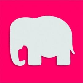 Support bonbons polystyrène elephant pour gateau bonbon