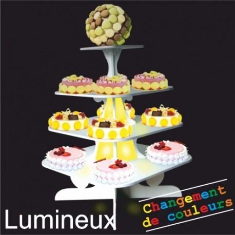 présentoir lumineux buffet groom en pvc