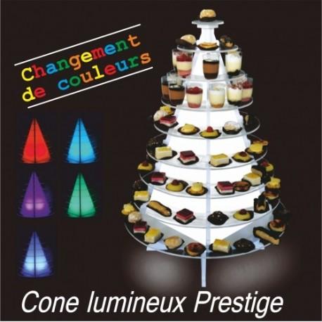 cône lumineux prestige avec parois diffusantes pour verrines