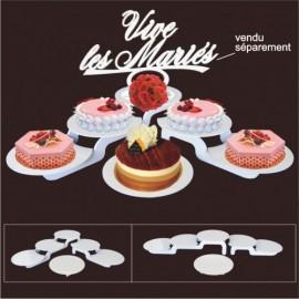 présentoir à gâteaux modulo rond en pvc